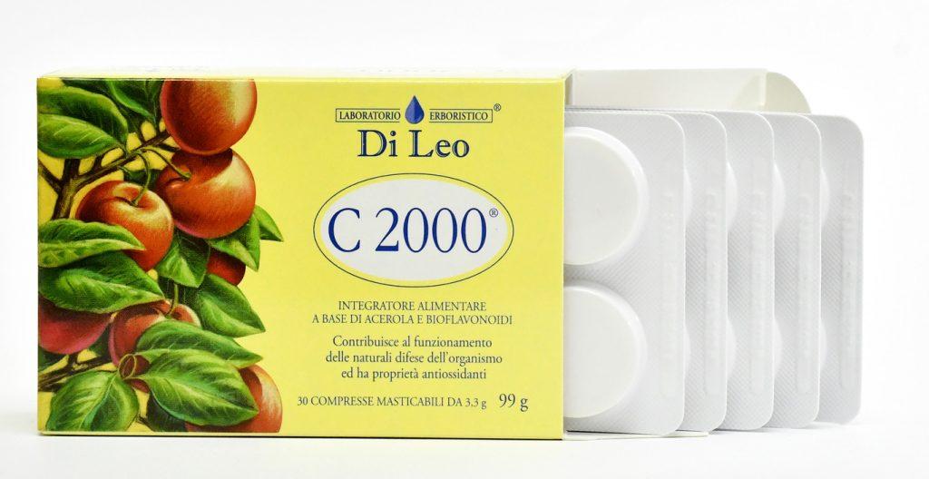 Integratore alimentare con vitamina C a base di Acerola e Bioflavonoidi